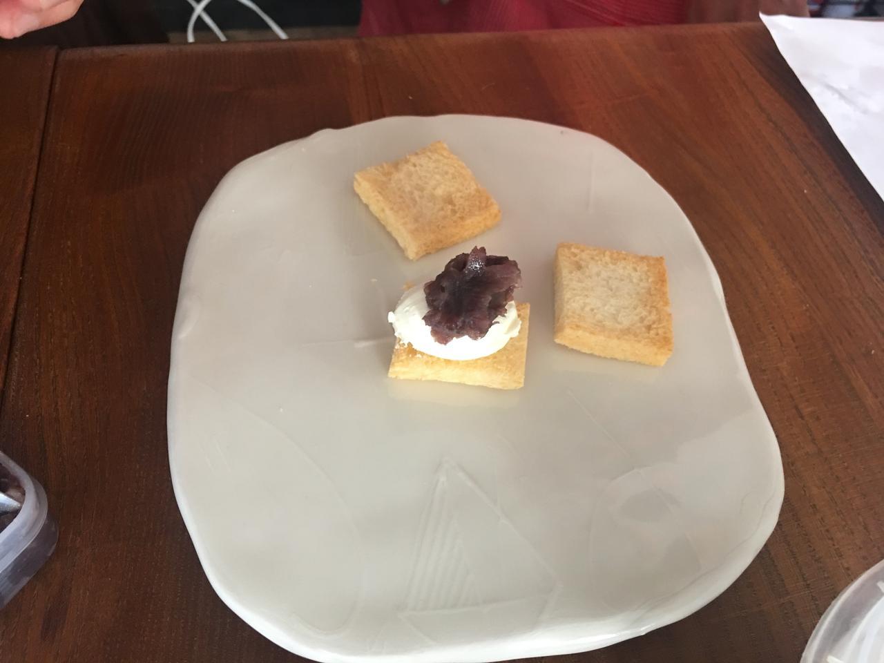 画像2: クリームチーズとあんこの塩昆布カナッペ