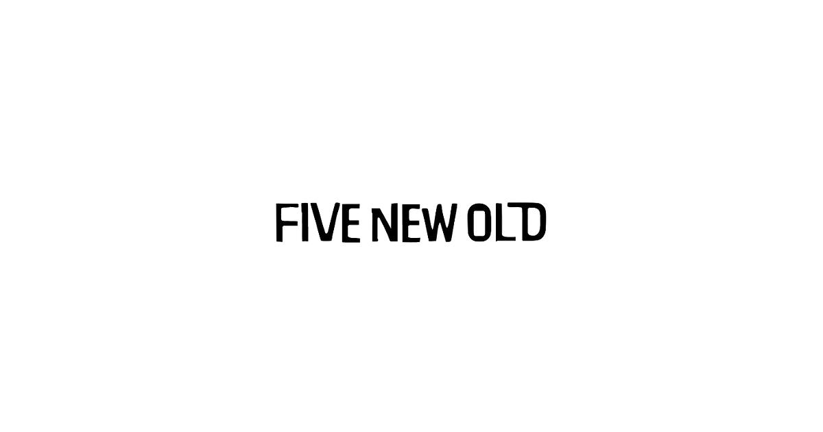 画像: FIVE NEW OLD OFFICIAL WEB SITE