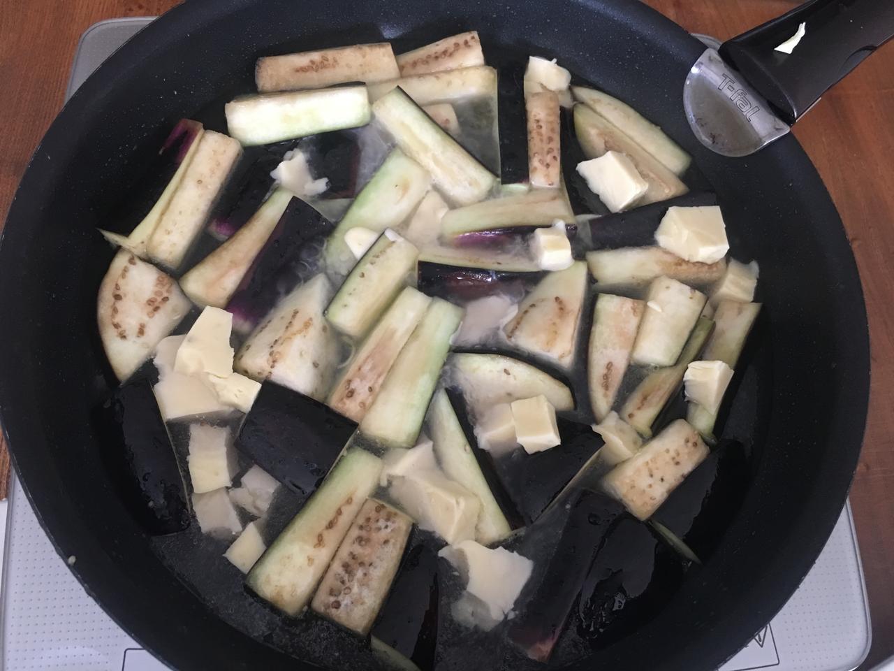 画像4: 茄子のアンチョビ&オリーブチーズ煮