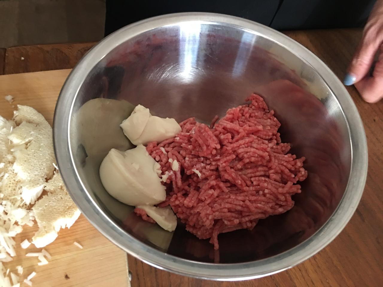 画像2: ヘルシーチーズえのきハンバーグ