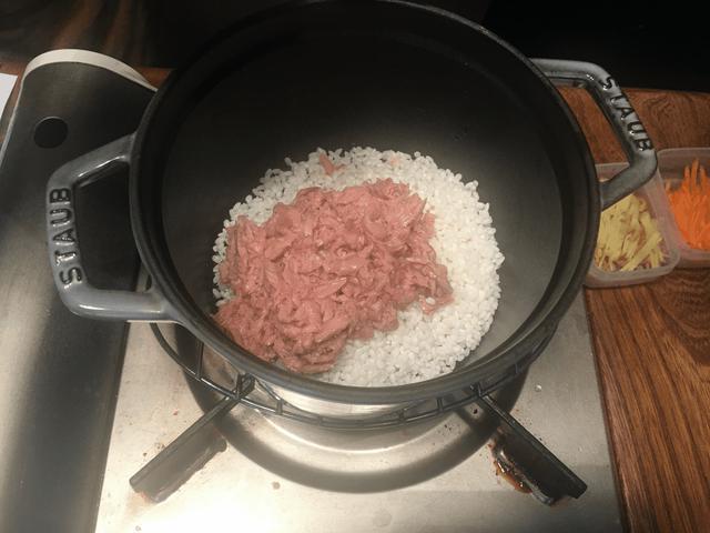 画像2: チーズ入りカツオ飯風