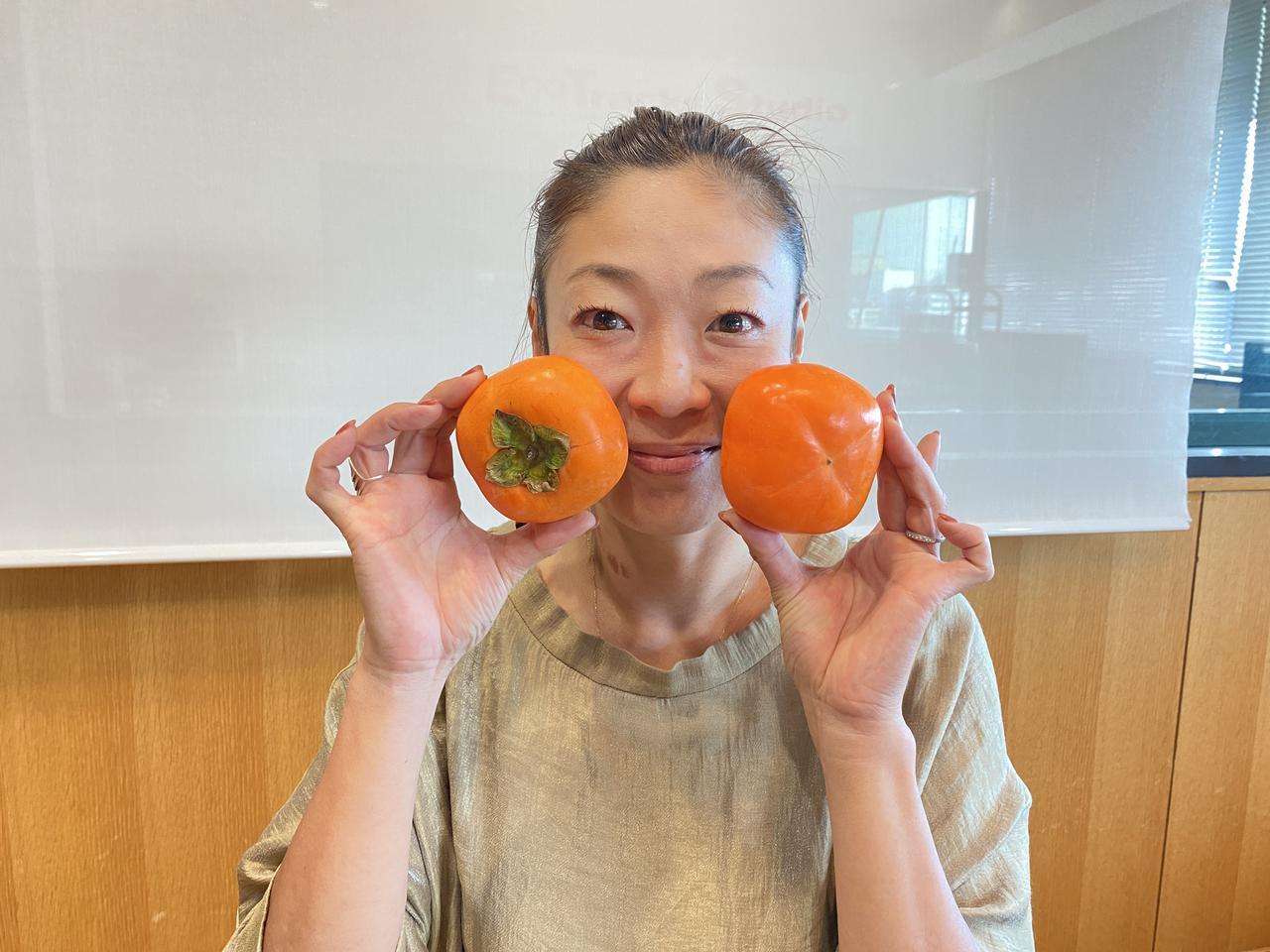 画像: 今日、ご紹介しましたのは…「柿」!!