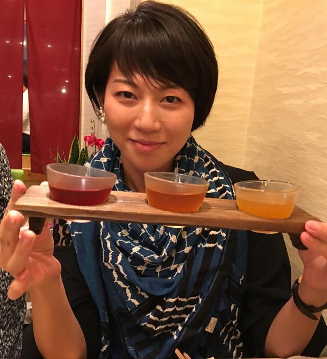 画像: 特におススメされているのが 特別に置いている「日本一受賞の河内ワインの梅酒 七福神」!!! (各580円 味比べ3種980円)