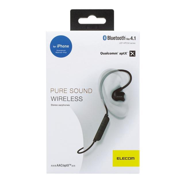 画像: Bluetooth(R)ワイヤレスステレオイヤホン - LBT-HPC50MPBK