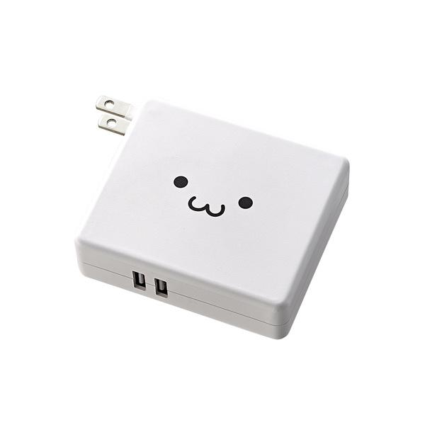 画像: AC充電器一体型モバイルバッテリー - DE-AC01-N5824WF