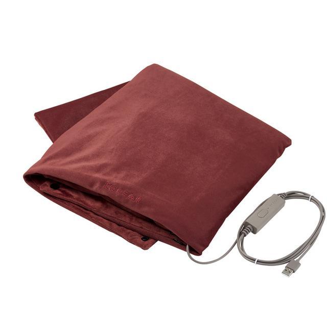 画像: ECLEAR warm USBブランケット(モーヴブラウン) - HCW-B01BR