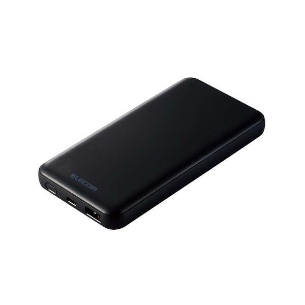 画像: USB PD20Wモバイルバッテリー(10000mAh/USB PD準拠/C×1+A×1) - DE-C28-10000BK