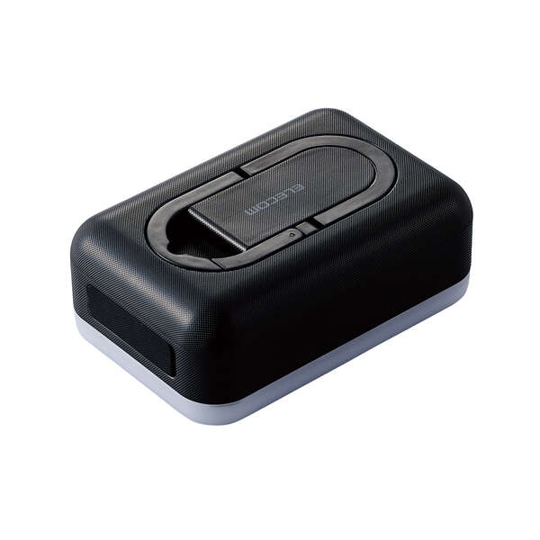 画像: 6700mAh 防災LED付 モバイルバッテリ 平型 - DE-M21L-6700BK