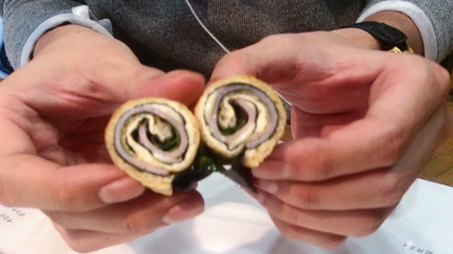 画像: ☆今日のおつまみは、『海苔ハムチーズの油揚げくるくる巻き』でした☆
