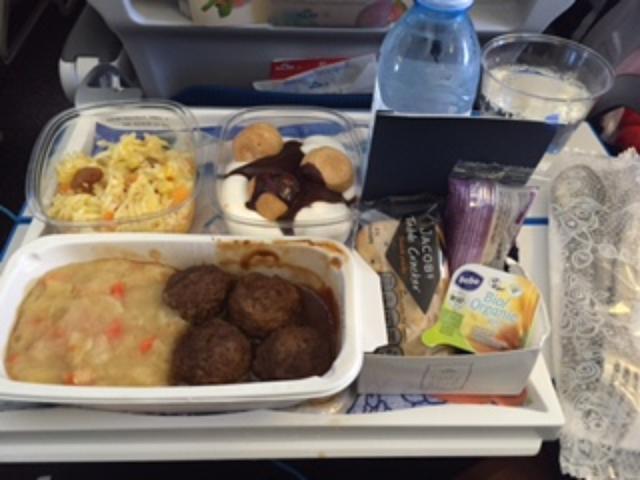 画像: 機内食、またまた絶品です。