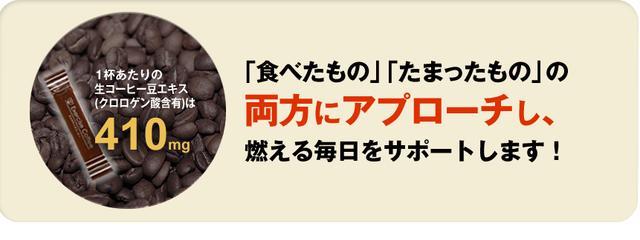 画像: ①コーヒークロロゲン酸410mg配合!