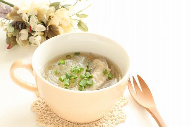 画像: ③ 春雨スープ