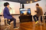 画像: しかし、さすがは中野真矢さん。 ゲームでも華麗なテクニックを披露し、 30秒のハンデをつけた記者をあっさりパスしました。
