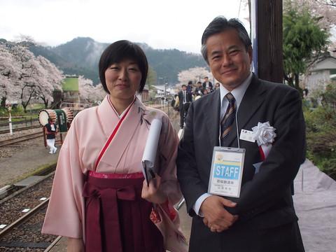 画像: 若桜鉄道・山田社長&社員のKさん