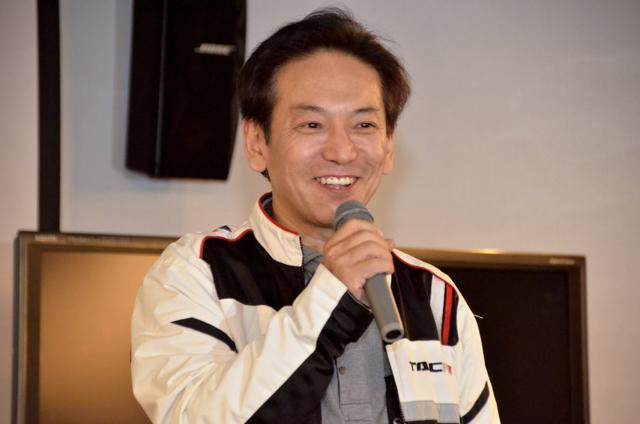画像: こちらはインターグロー代表取締役社長の竹内茂樹さん。 ご自身もバイク乗りで、ゲームを通じてライダーが増えれば と願っております。