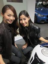 画像10: <理子の東京モーターショー2013見聞録> バイクに革ジャンに女の子 (BMW編)