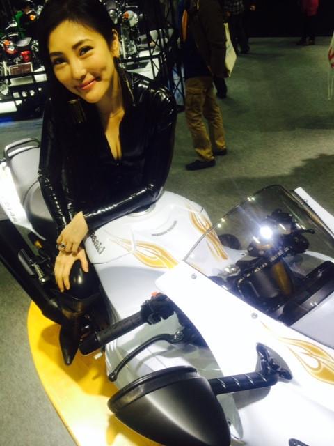 画像6: 大阪モーターサイクルショー2014、たっぷり満喫中!(福山理子)