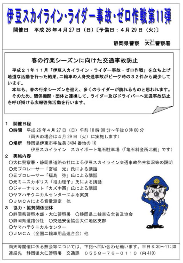 画像1: 伊豆スカイライン・ライダー事故・ゼロ作戦 第11弾。(福山理子)