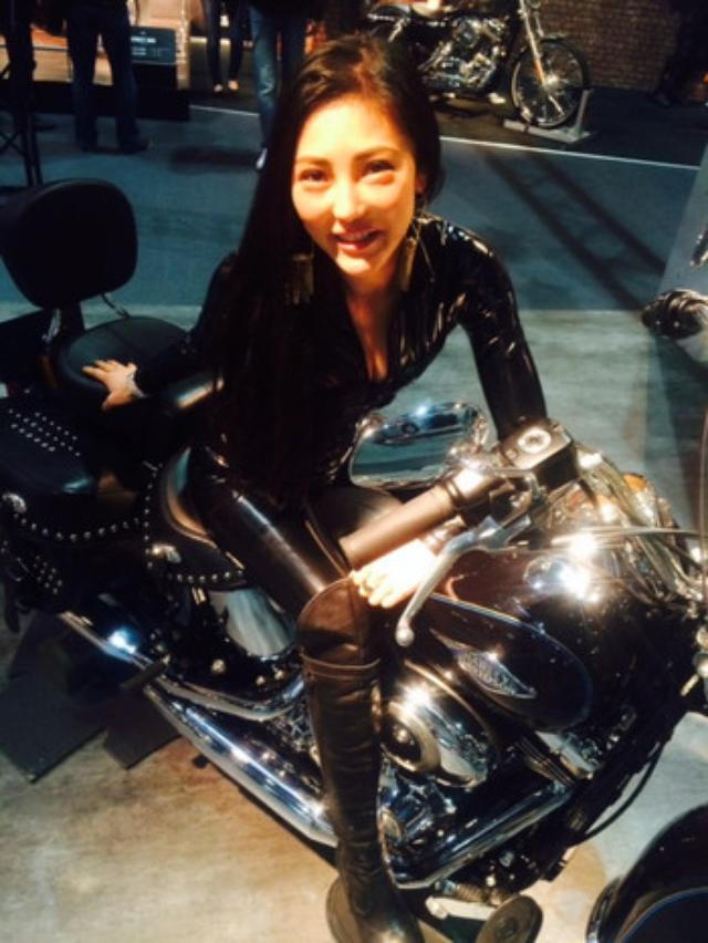 """画像1: 福山理子の""""いまさらモーターサイクルショー2014"""" (その8ハーレーブース)"""