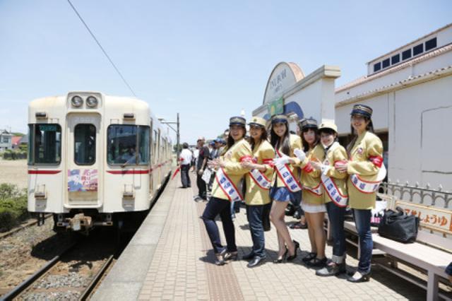 画像5: 卍固めサービスも! 「銚子電気鉄道開業90周年イベント×バイク」が開催されました!※画像追加