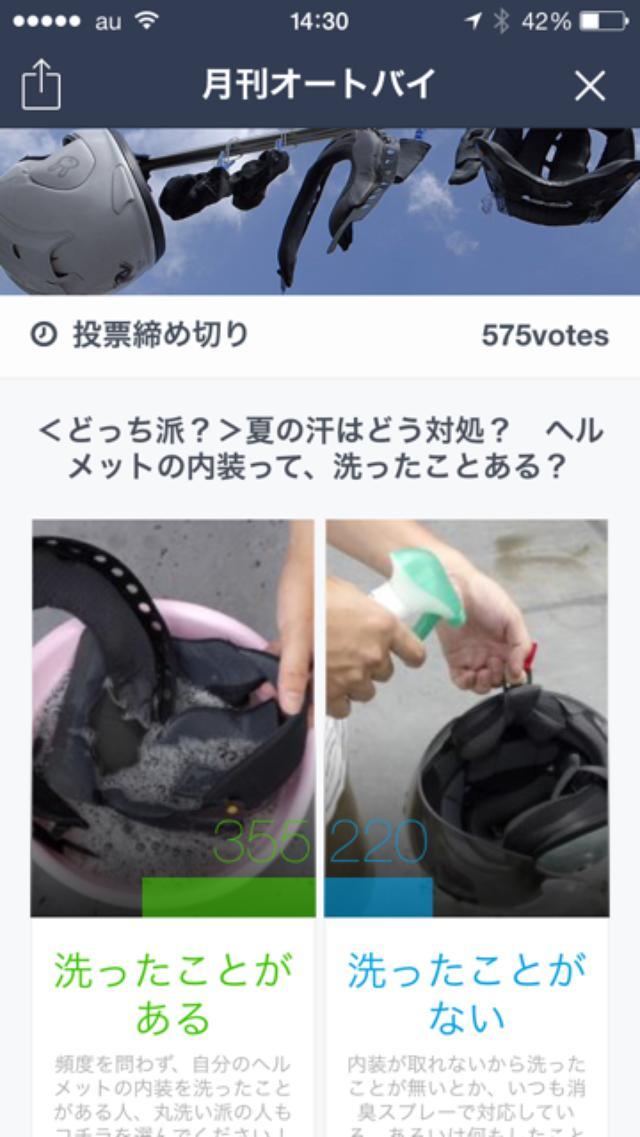 画像1: <アンケート結果>ヘルメットの内装って、洗ったことある?