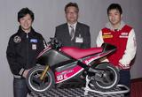 画像: 3月21日(土)からオープンするmoto RACER(モトレーサー)。 その発表の場には、元MotoGPライダーの中野真矢さん(左)と、 2015シーズンは全日本ロードレースのJSB1000クラスに参戦する 渡辺一馬 選手がゲストとして登場。
