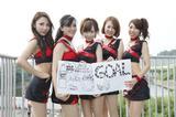 画像: 最後はコカコーラ・ゼロ鈴鹿サーキットクイーンの皆さんです。 左から中川祐佳さん、田中朋恵、松井かれん、早川采伽さん、鬼頭果住さん。
