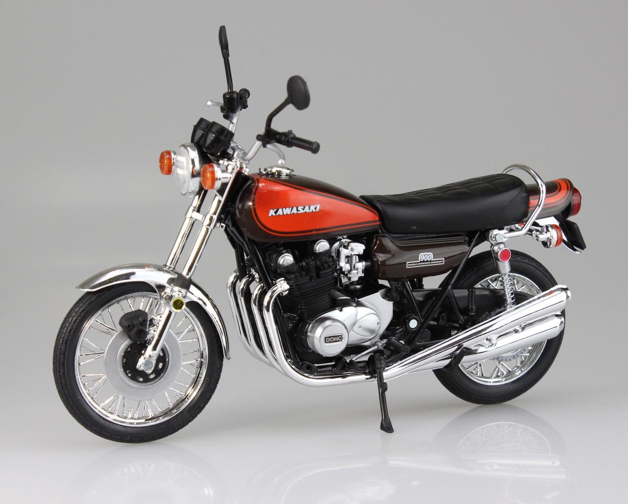画像2: 1/12 完成品バイク Kawasaki 900Super4(Z1)ファイヤーボール ■本体価格:2000円