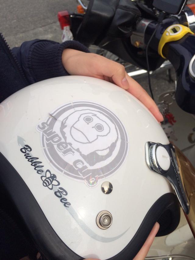 画像: 彼女のヘルメット