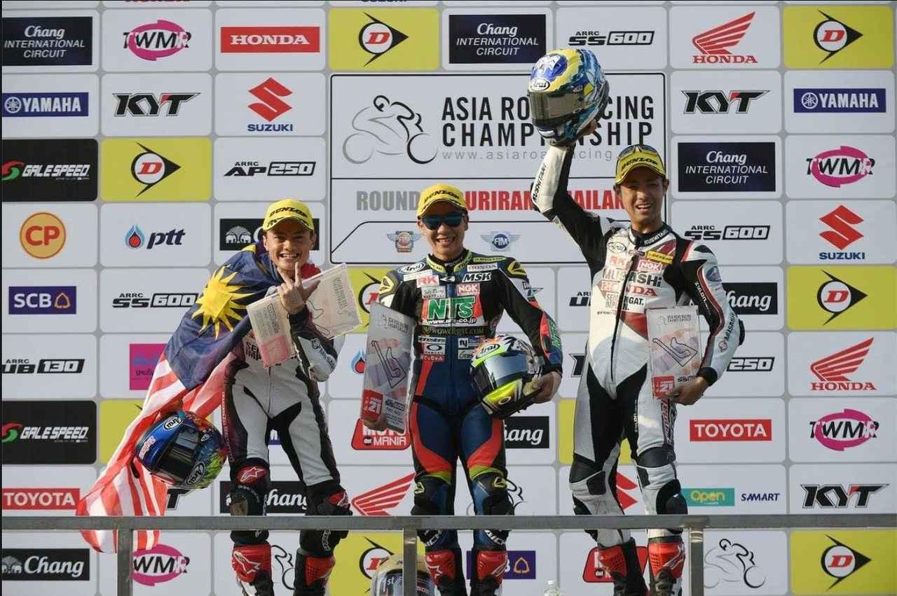 画像4: アジア選手権SS600クラスのレース1で初優勝!