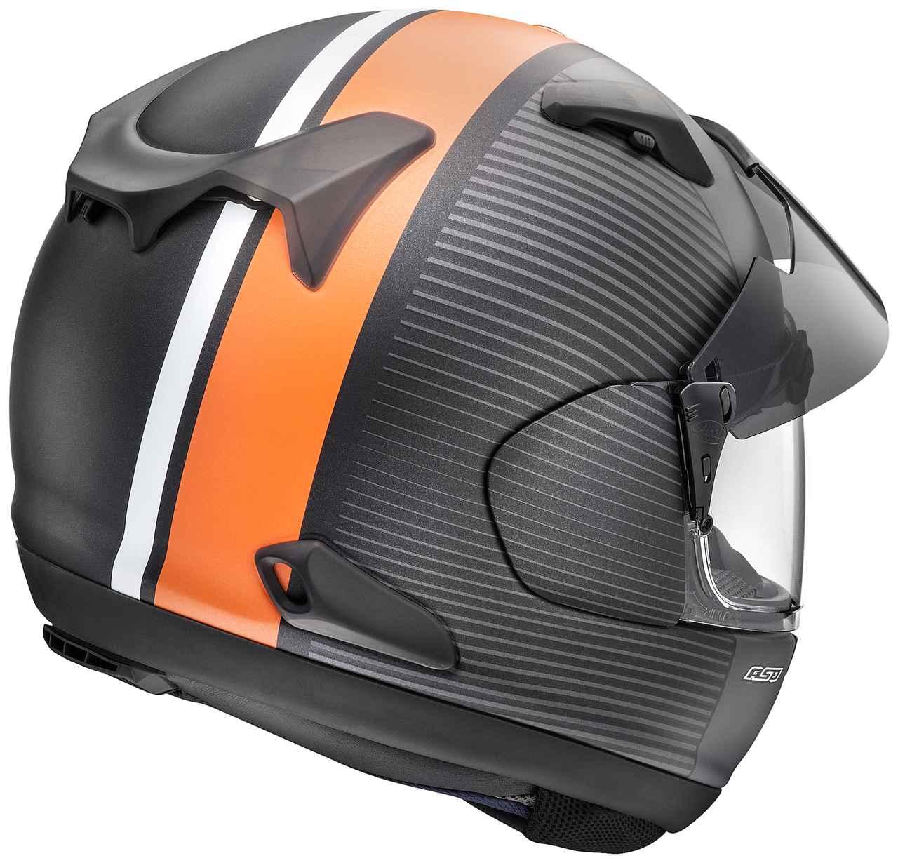 画像2: アライヘルメット ASTRAL-X TWIST(グラスブラック・ツイスト・オレンジ) ■価格:6万2640円(税込)