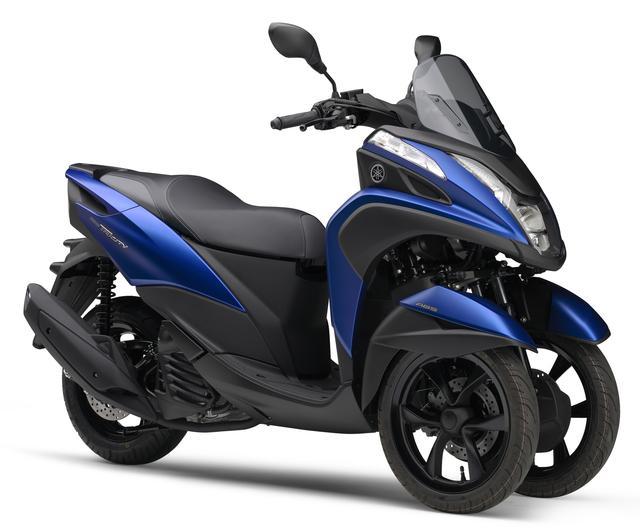 画像: ■YAMAHA TRICITY 155(マットビビッドパープリッシュブルーメタリック1) 発売時期/ 2016 年9 月(予定) 価格/4,499 ユーロ