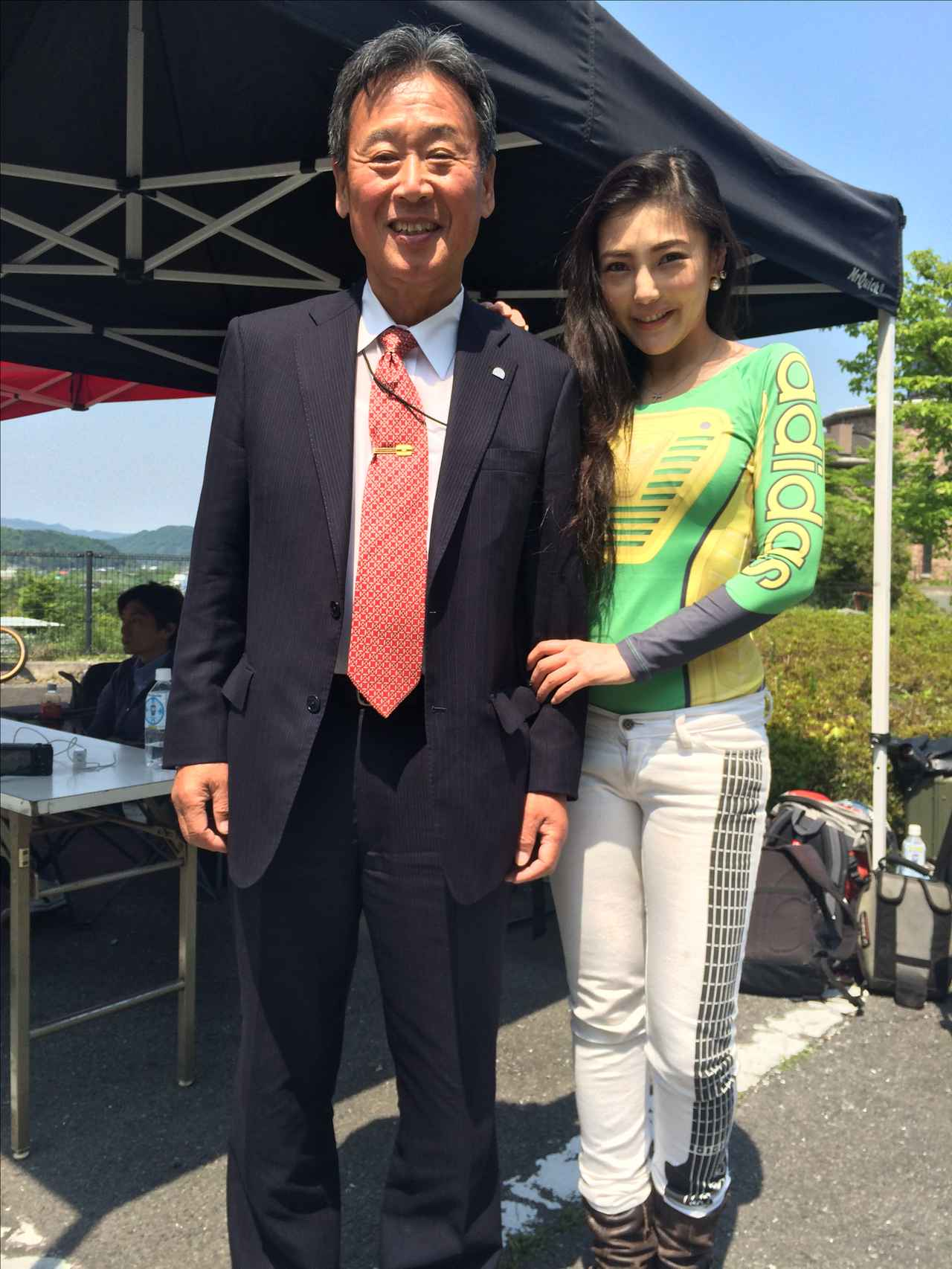 画像: 主催の日本二輪車文化協会、吉田会長と写真を撮らせて頂きました。