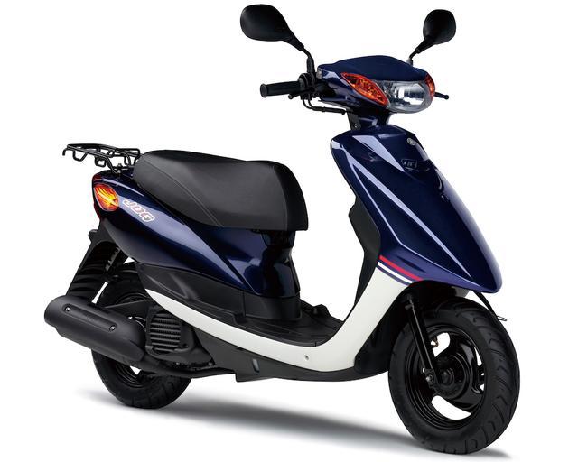 画像: Y058 YAMAHA JOG/Petit/DX ■価格:16万920円/17万3880円(デラックス) 長い歴史を誇る50ccスクーターの定番。現行モデルは3バルブ50cc水冷単気筒エンジンを搭載。デラックスはリアスポイラー、前輪ディスクブレーキとキャストホイールを装着。