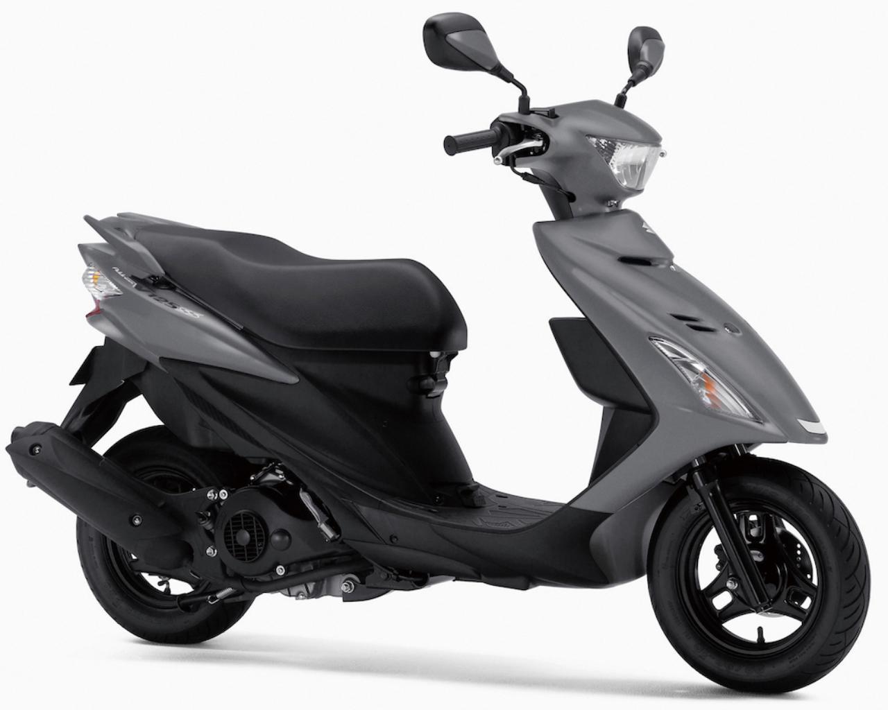 画像: S044 SUZUKI ADDRESS V125SS ■価格:27万4320円 アドレスV125Sにリアスポイラー風タンデムグラブバーや質感の高いアルミ製のタンデムステップバーを装着し、軽快な走りにふさわしいスポーティなイメージを強調したモデル。