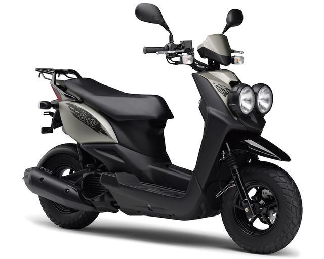 画像: Y055 YAMAHA BW'S ■価格:23万2200円 オフロードモデルのようなスタイルで長年人気なレジャーバイク的スクーター・BW`Sの50ccバージョン。ジョグなどにも採用されている環境性能や経済性を持つ50cc水冷4ストエンジンを搭載している。