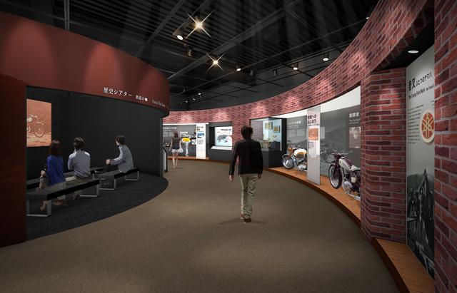 画像: 歴史展示のスペースは、回廊を廻るように配置になるようです。
