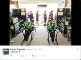 画像: チームグリーン、渡邊一樹選手のツイッターより。柳川明/レオン・ハスラムとのトリオで出場!