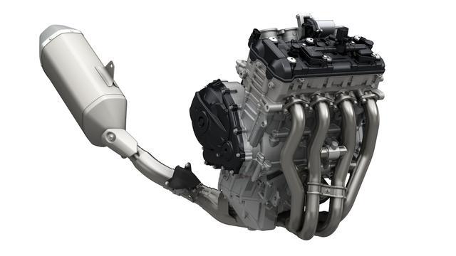 画像: 従来型よりもさらにショートストローク化された新作エンジン。パワーはついに大台突破の202PS!