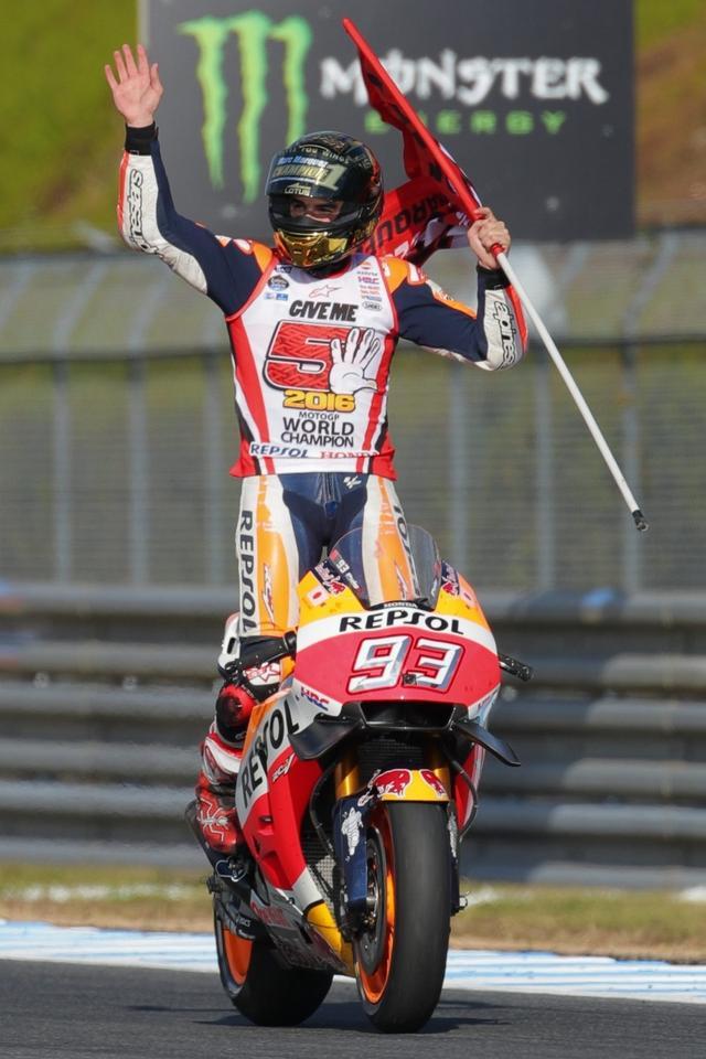 画像: 15戦目にして5勝を含む11回の表彰台と、チャンピオンにふさわしい走りをみせたマルケス