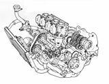 画像: 当時ヤマハが提唱していた「ジェネシス思想」に基づいた、完全新設計の前傾45度水冷DOHC4バルブ並列4気筒エンジンを搭載。吸排気フローのストレート化、フロント荷重の増加といったメリットをもたらした。