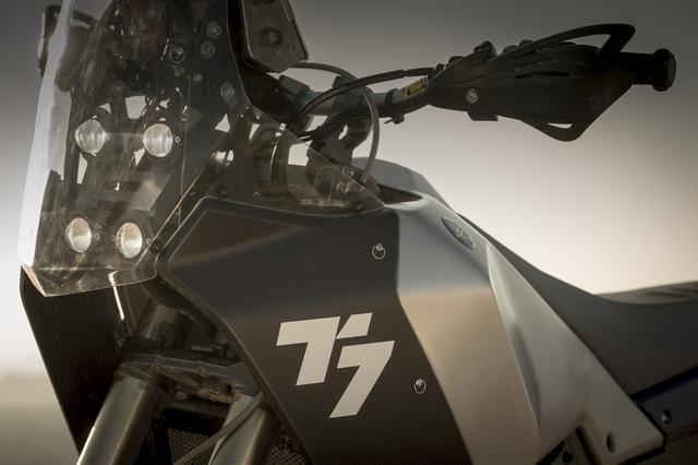 画像: カーボンシュラウドには誇らしげな「T7」の文字が。TはテネレのTですね。