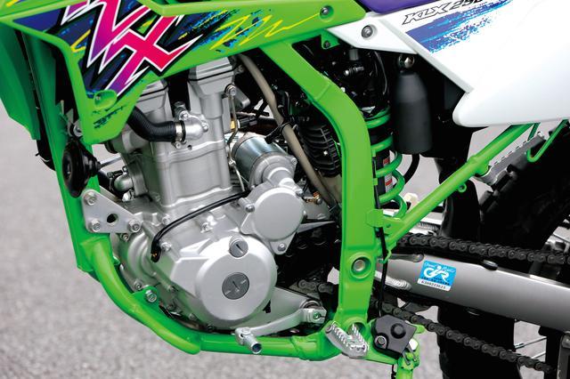 画像: ルーツとなった初代モデルから熟成を重ねてきたDOHC水冷シングル。FI仕様で最高出力24PSを発揮する。