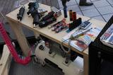 画像: エアツールの体験コーナーも用意されています。