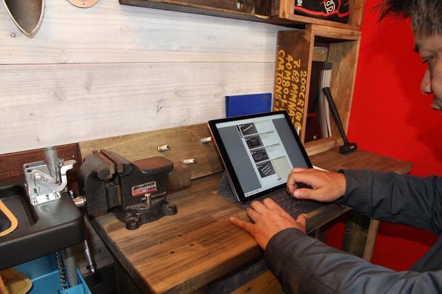 画像: 店内では、各メーカーの商品&在庫検索なども可能。