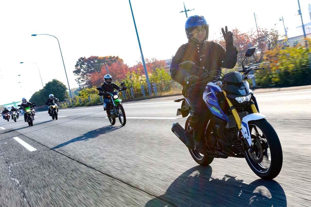 画像: 高速道路も走れる軽軽二輪ということで、ルートに関越自動車道を設定していたのだが、周囲を走るクルマや大型バイクの早い速度域にも負けない走りを見てくれた。