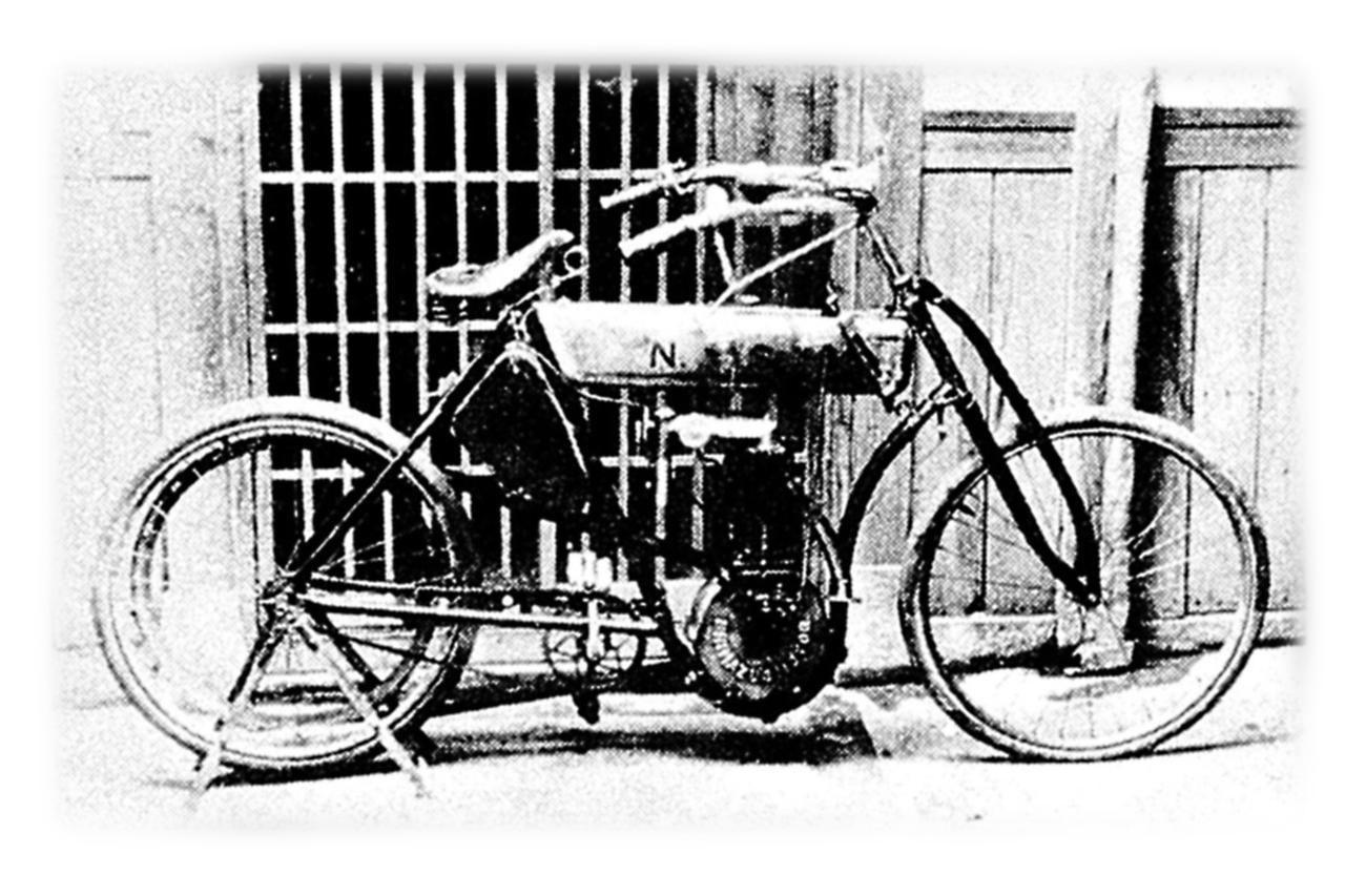 画像: 1909年 島津モーターNS号 NS 号のほとんどの部品は日本製の材料を使って、製作者の島津楢蔵によって製作。これ以前の国産車は輸入部品を組み立てたものばかりで、純粋な国産車第1 号はNS 号ということになる…云々と、3000台以上のバイクを紹介しております!