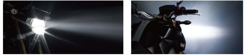 画像: H.I.Dを凌ぐ4500ルーメン。H4 compactに比べて約1.5倍の明るさに