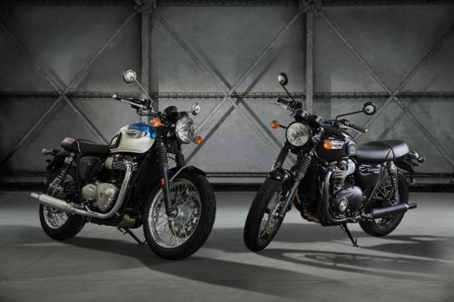 画像: Triumph Bonneville T100 and T100 Black