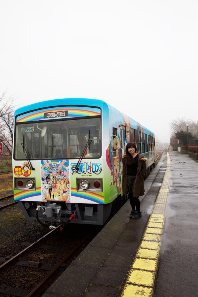 画像: 写真は翌日乗った「ONE PIECE」列車です